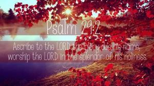 Psalm 29 2