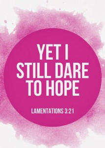 Lamentatons dare to hope